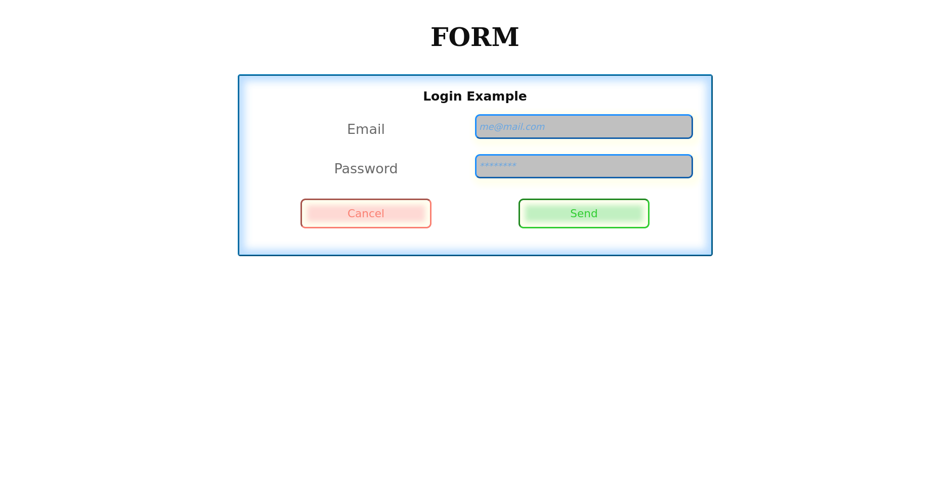 The Form example