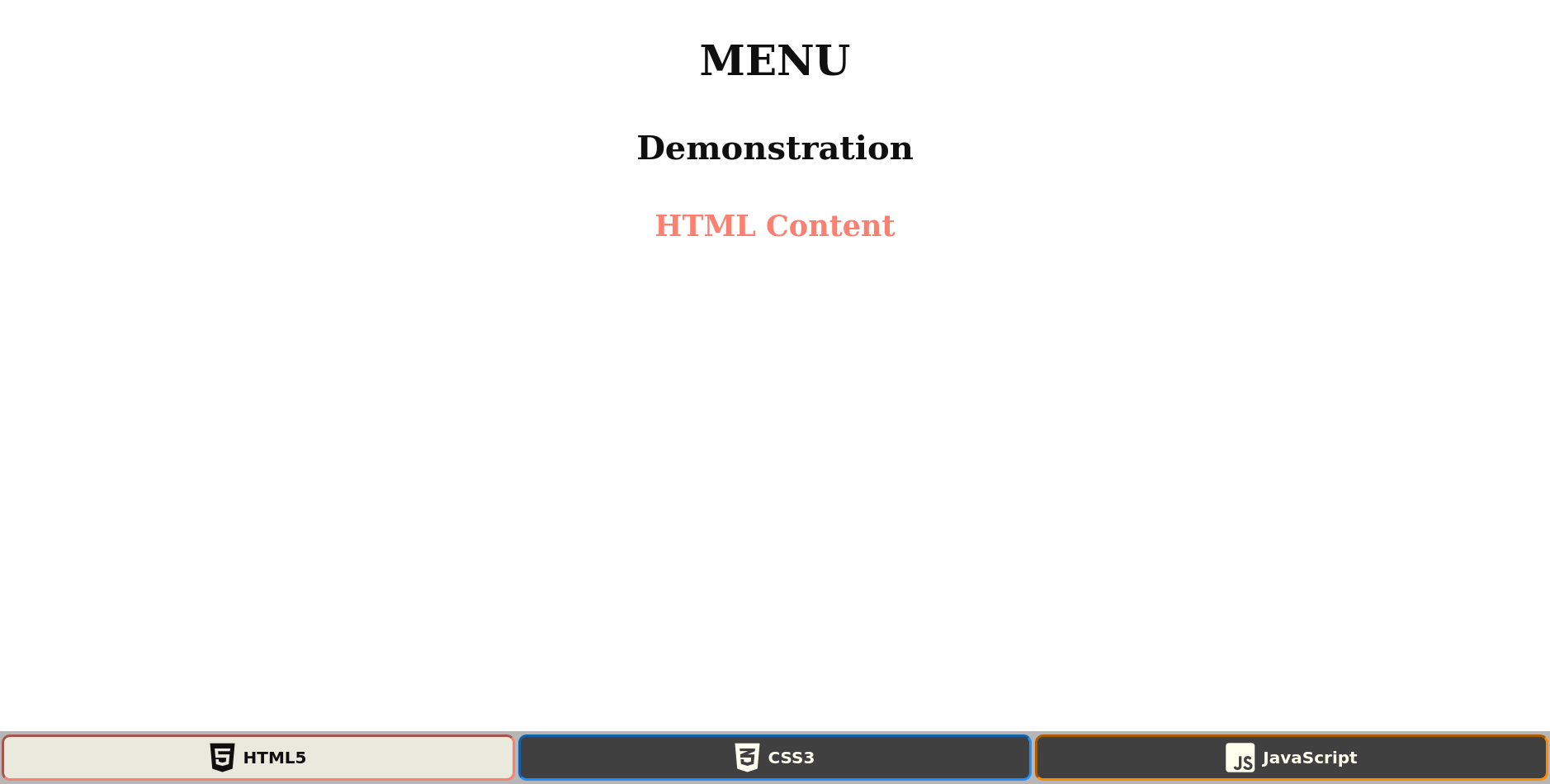 The Menu example